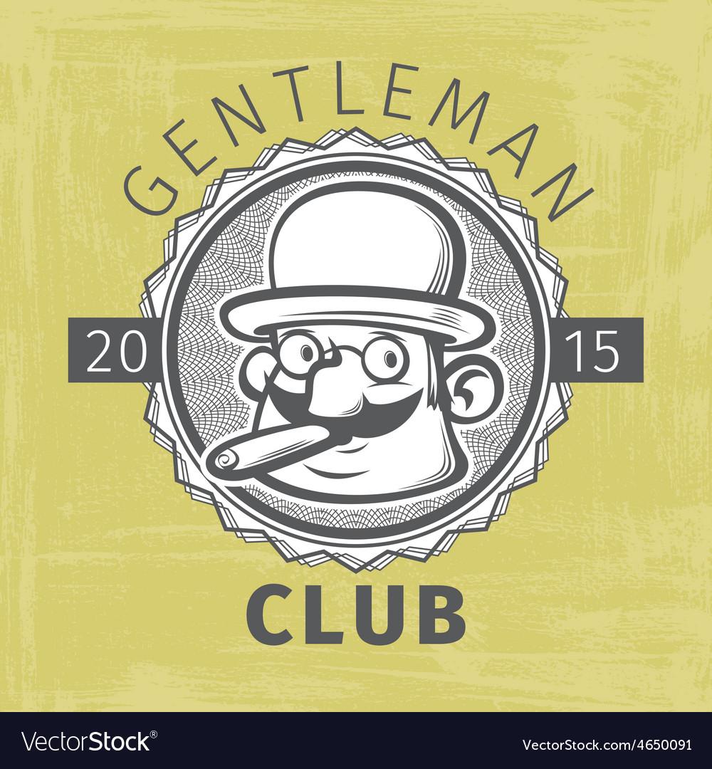 Gentleman logo vector | Price: 1 Credit (USD $1)