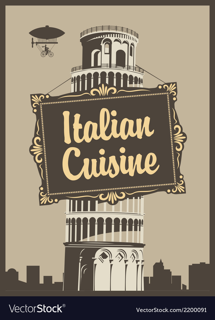 Italian cuisine vector | Price: 1 Credit (USD $1)