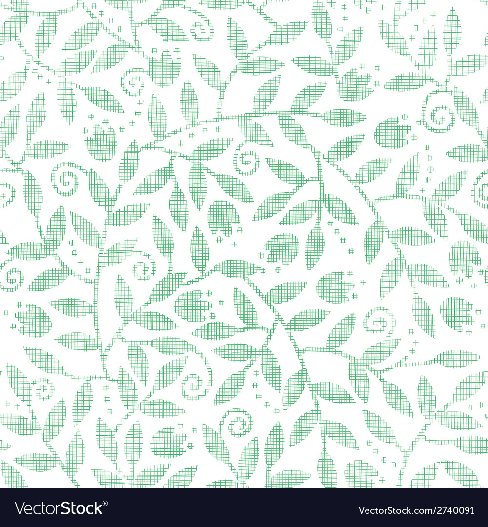 Leaves and swirls textile seamless pattern vector | Price: 1 Credit (USD $1)