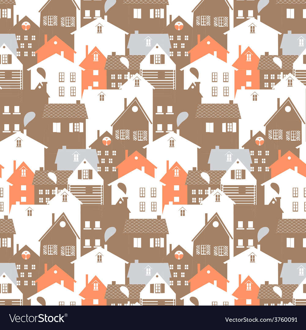 Megalopolis seamless pattern vector | Price: 1 Credit (USD $1)