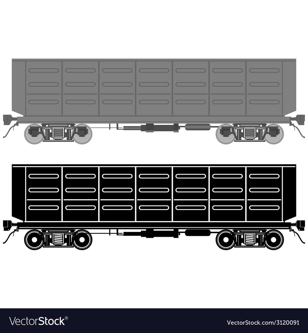 Railway wagon vector | Price: 1 Credit (USD $1)