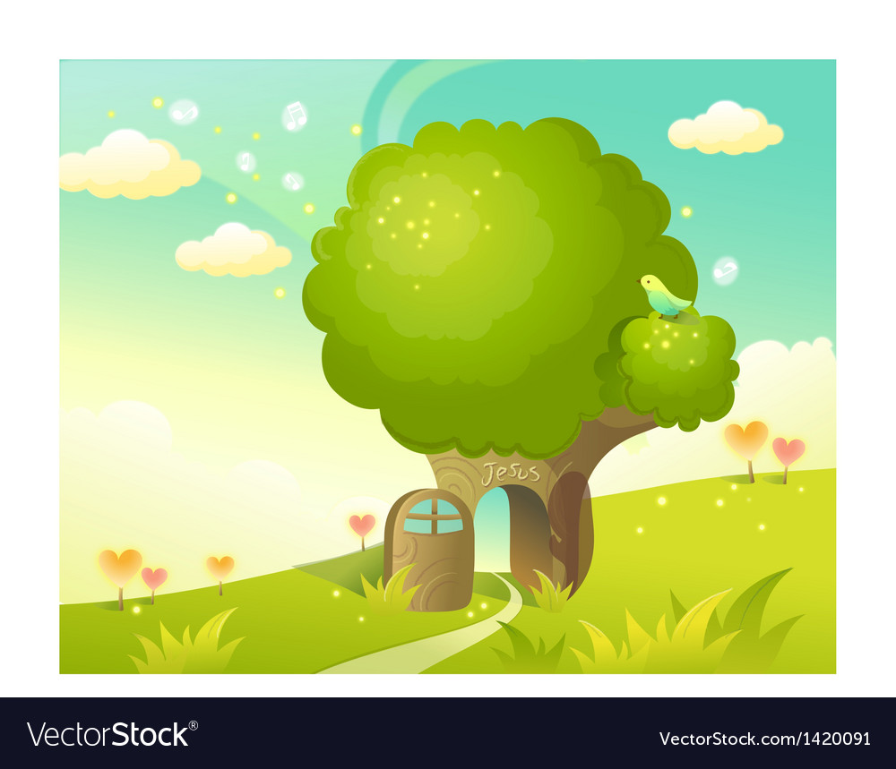 Religious home landscape background vector | Price: 1 Credit (USD $1)