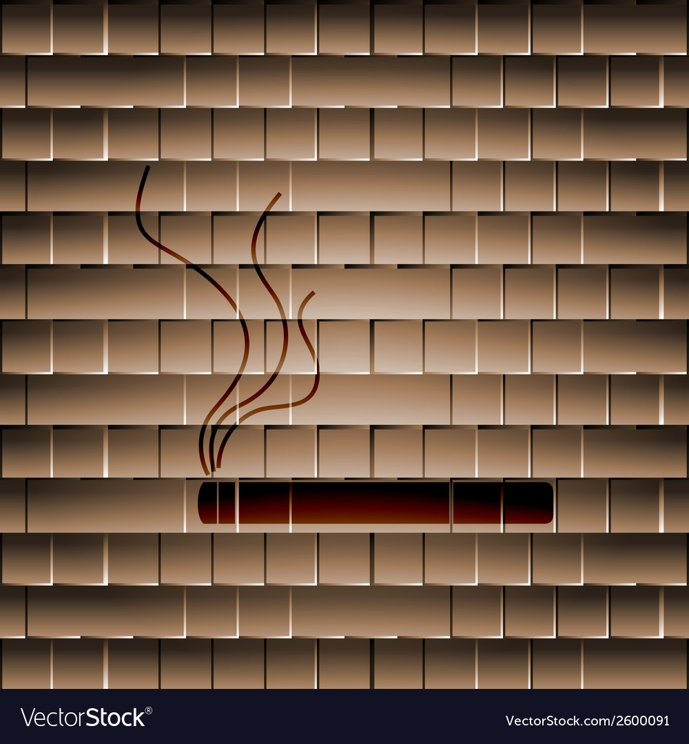 Smoking sign cigarette flat modern web button and vector   Price: 1 Credit (USD $1)