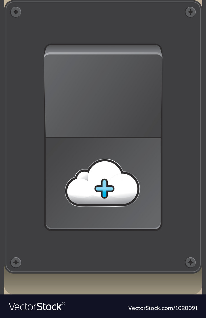Switch open cloud icon concept vector | Price: 1 Credit (USD $1)
