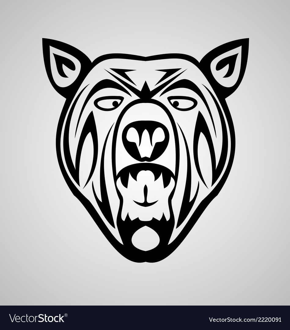 Tribal bear vector | Price: 1 Credit (USD $1)
