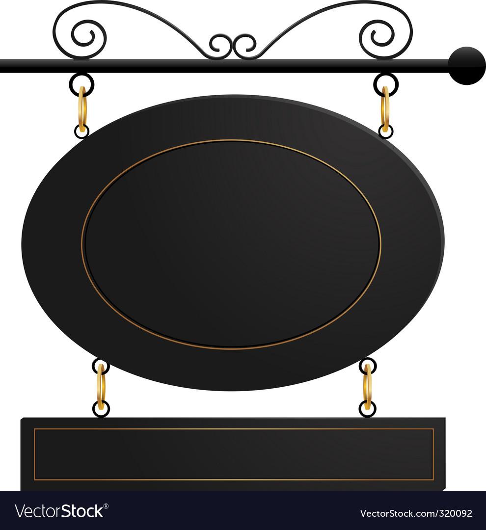Black cafe sign vector | Price: 1 Credit (USD $1)