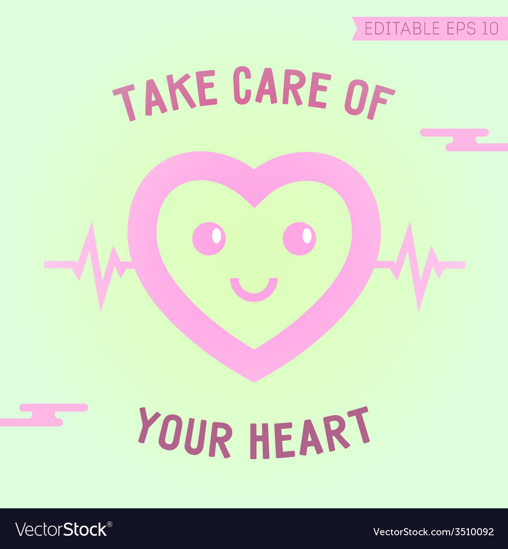 Card with happy hearth vector | Price: 1 Credit (USD $1)