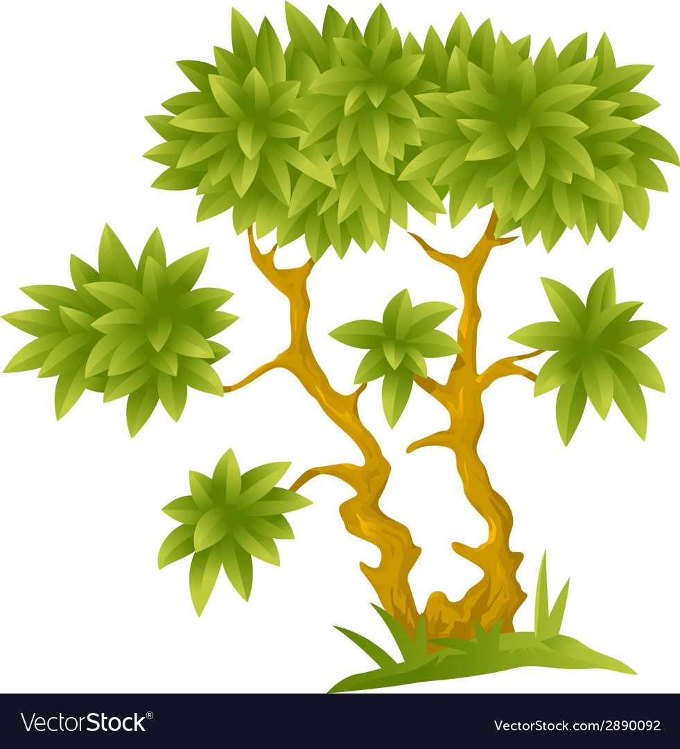 Cartoon decorative tree vector | Price: 1 Credit (USD $1)