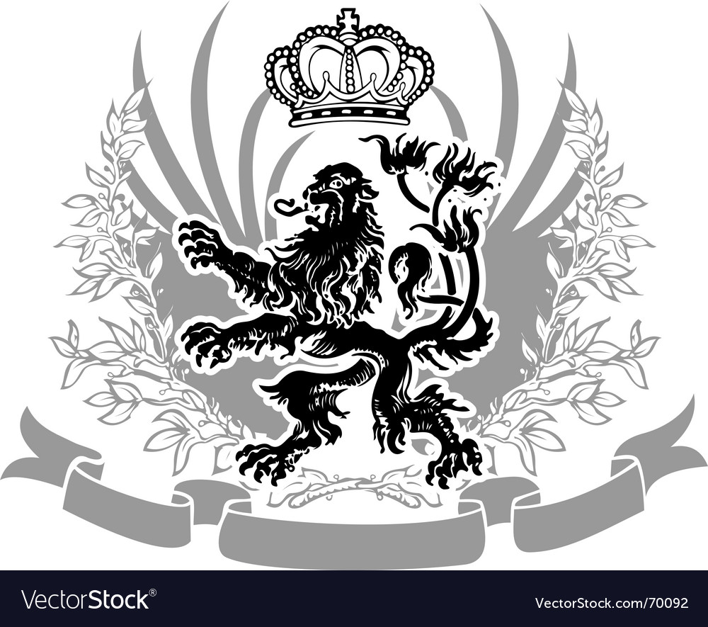Decorative heraldry vector | Price: 1 Credit (USD $1)