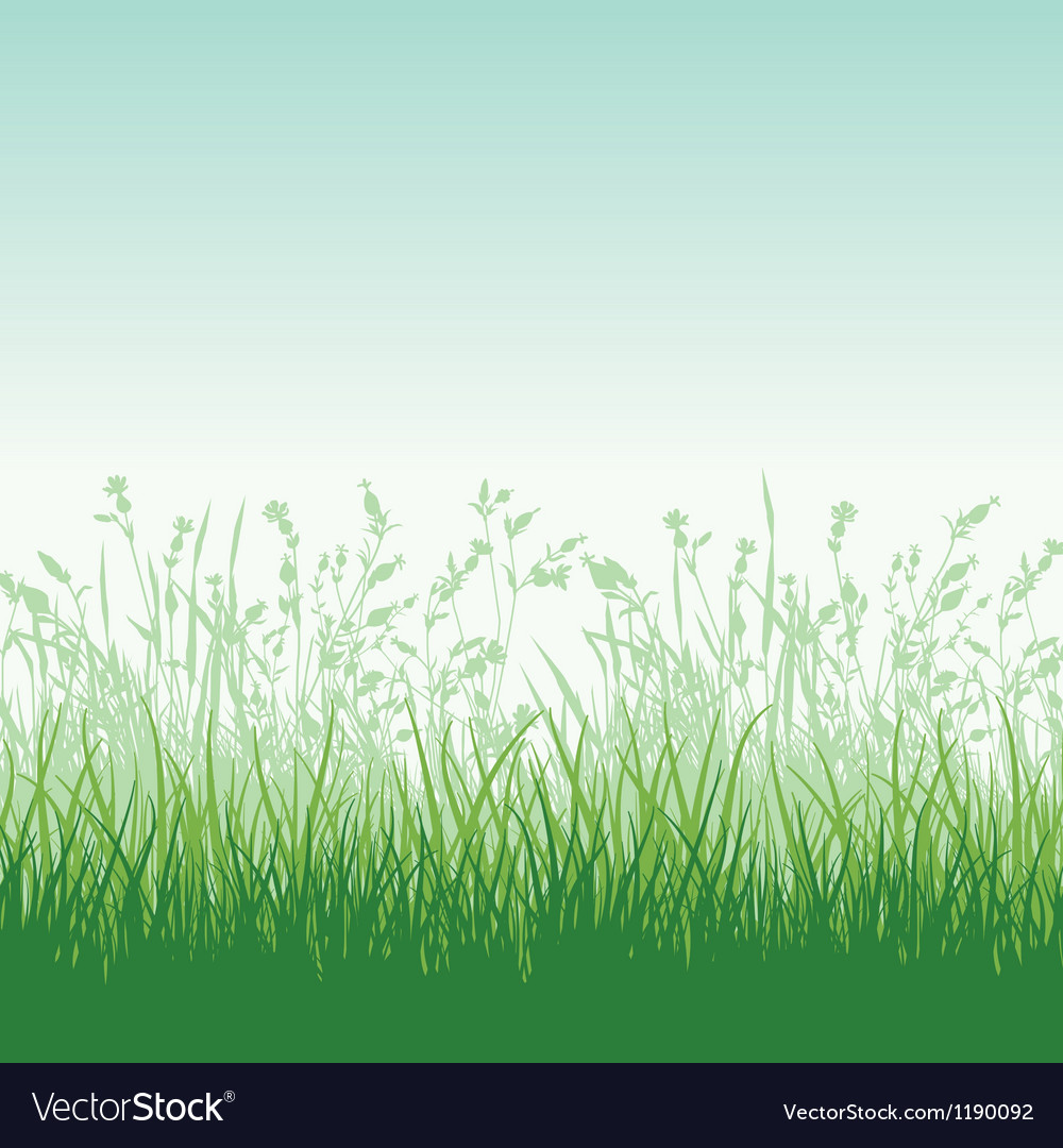 Grassy meadow vector | Price: 1 Credit (USD $1)