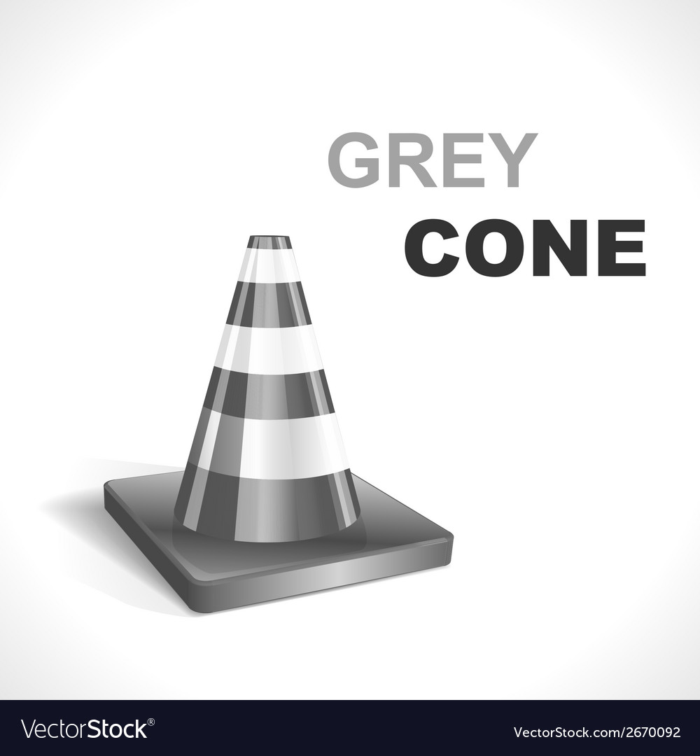 Grey traffic cone vector | Price: 1 Credit (USD $1)