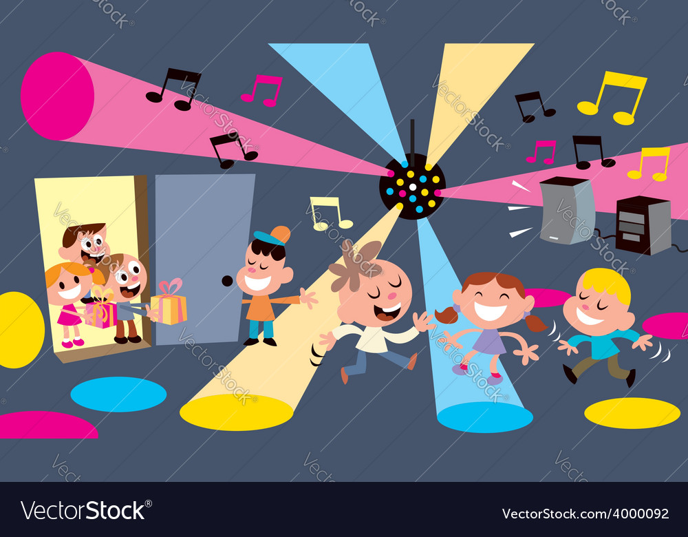 Kids party vector | Price: 1 Credit (USD $1)