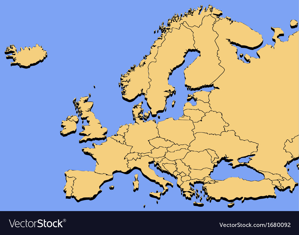 Map europe vector | Price: 1 Credit (USD $1)