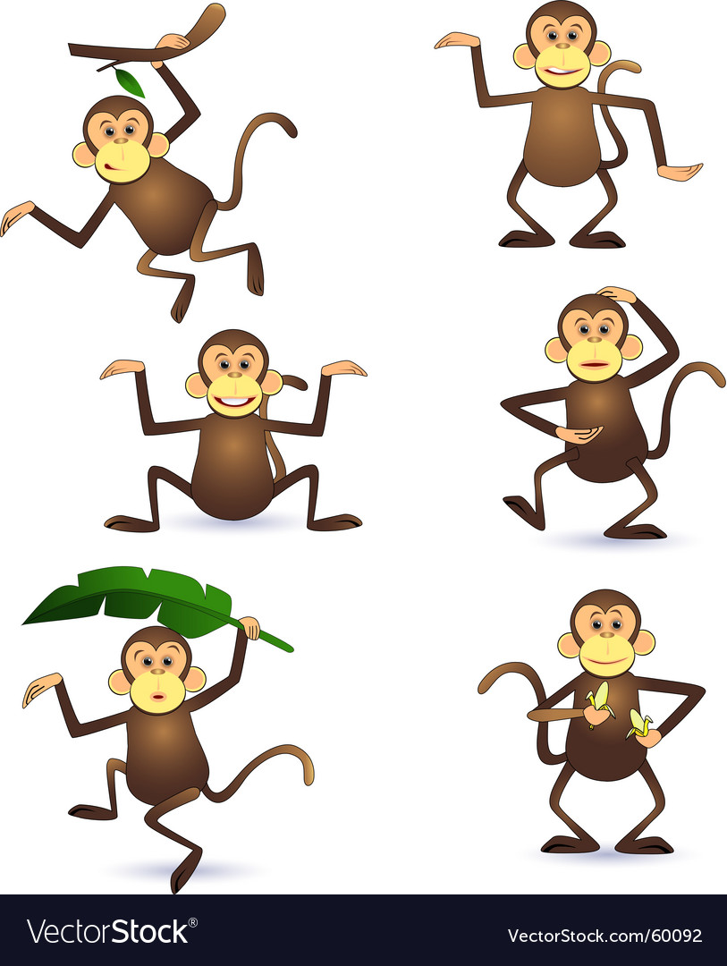 Monkeys vector | Price: 1 Credit (USD $1)