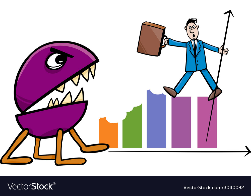 Recession in business cartoon vector | Price: 1 Credit (USD $1)