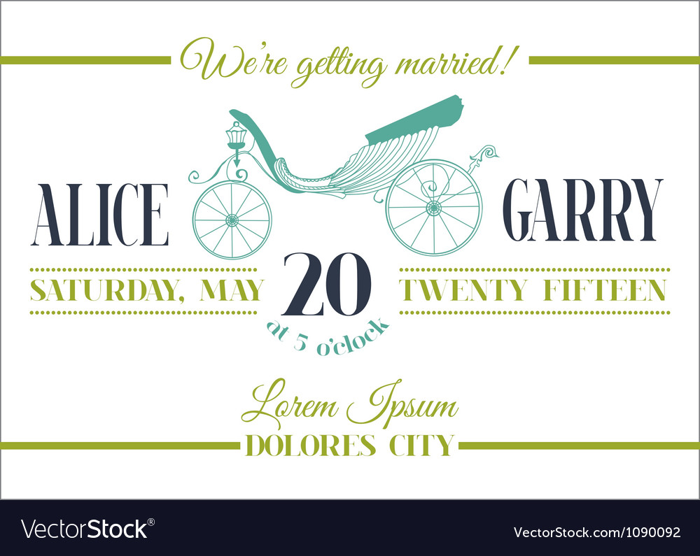 Retro wedding card vector | Price: 1 Credit (USD $1)