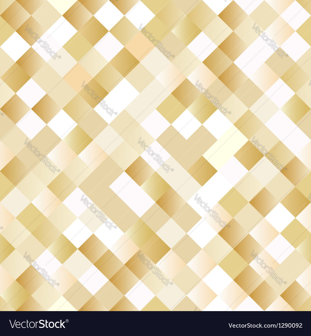 Seamless background with shiny golden squares vector | Price: 1 Credit (USD $1)