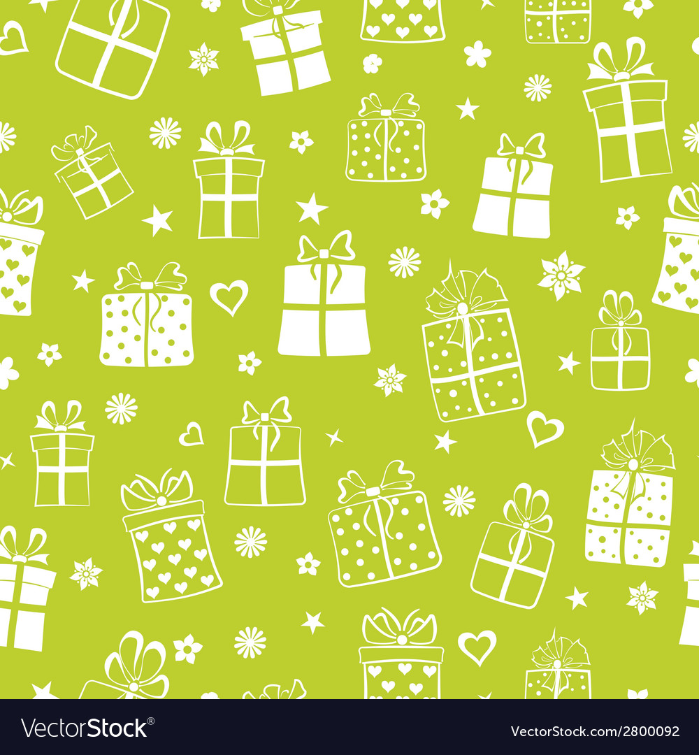 Seamless pattern of gift boxes vector | Price: 1 Credit (USD $1)