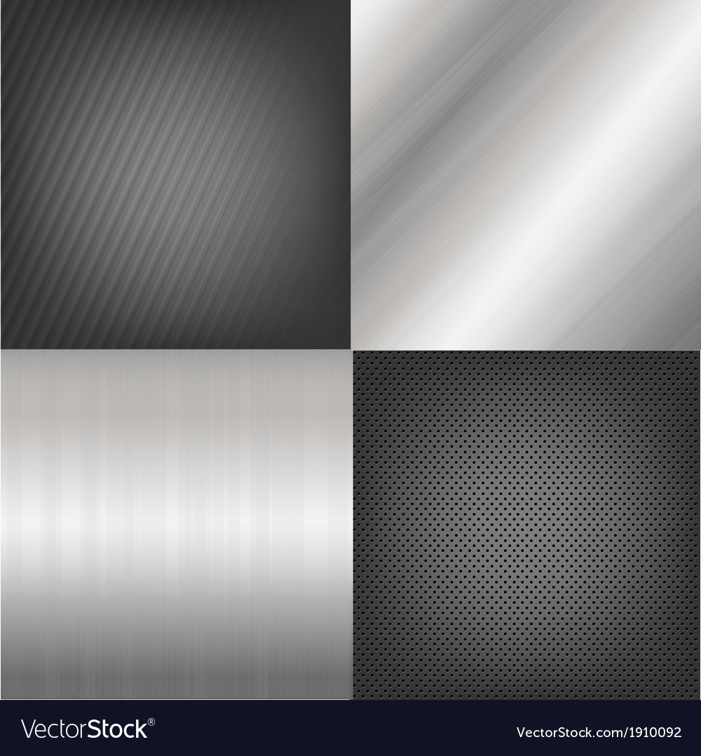 Set of metal texture background vector   Price: 1 Credit (USD $1)