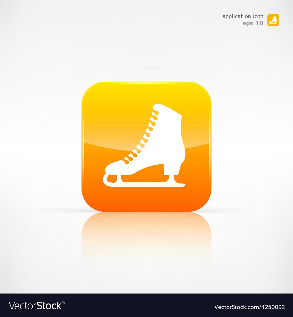Skate web icon vector | Price: 1 Credit (USD $1)