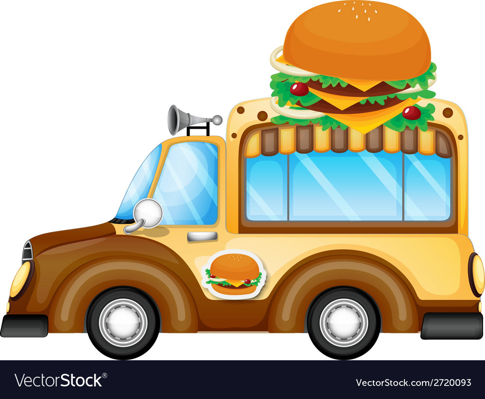 A vehicle selling burgers vector | Price: 1 Credit (USD $1)