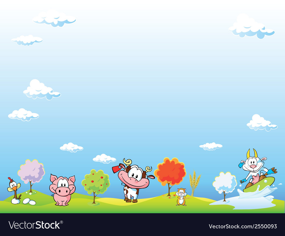 Animal farm background vector | Price: 1 Credit (USD $1)