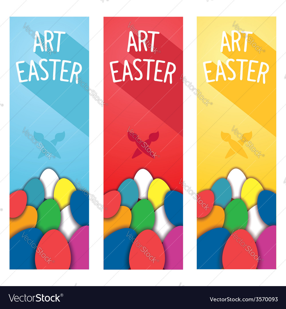 Art easter concept flyer vector | Price: 1 Credit (USD $1)