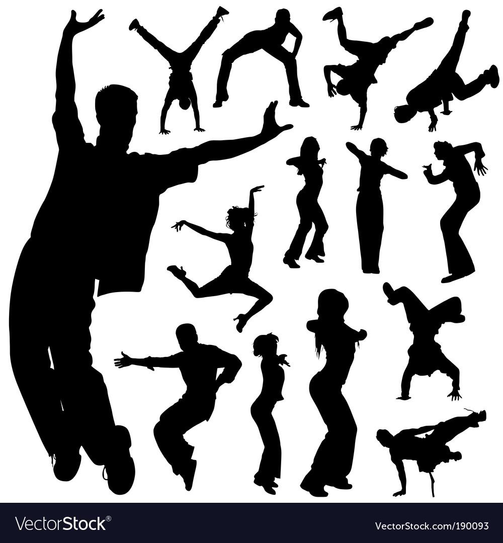 Dancing people set vector | Price: 1 Credit (USD $1)