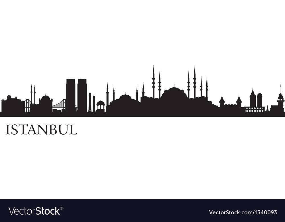 Istanbul city silhouette vector | Price: 1 Credit (USD $1)