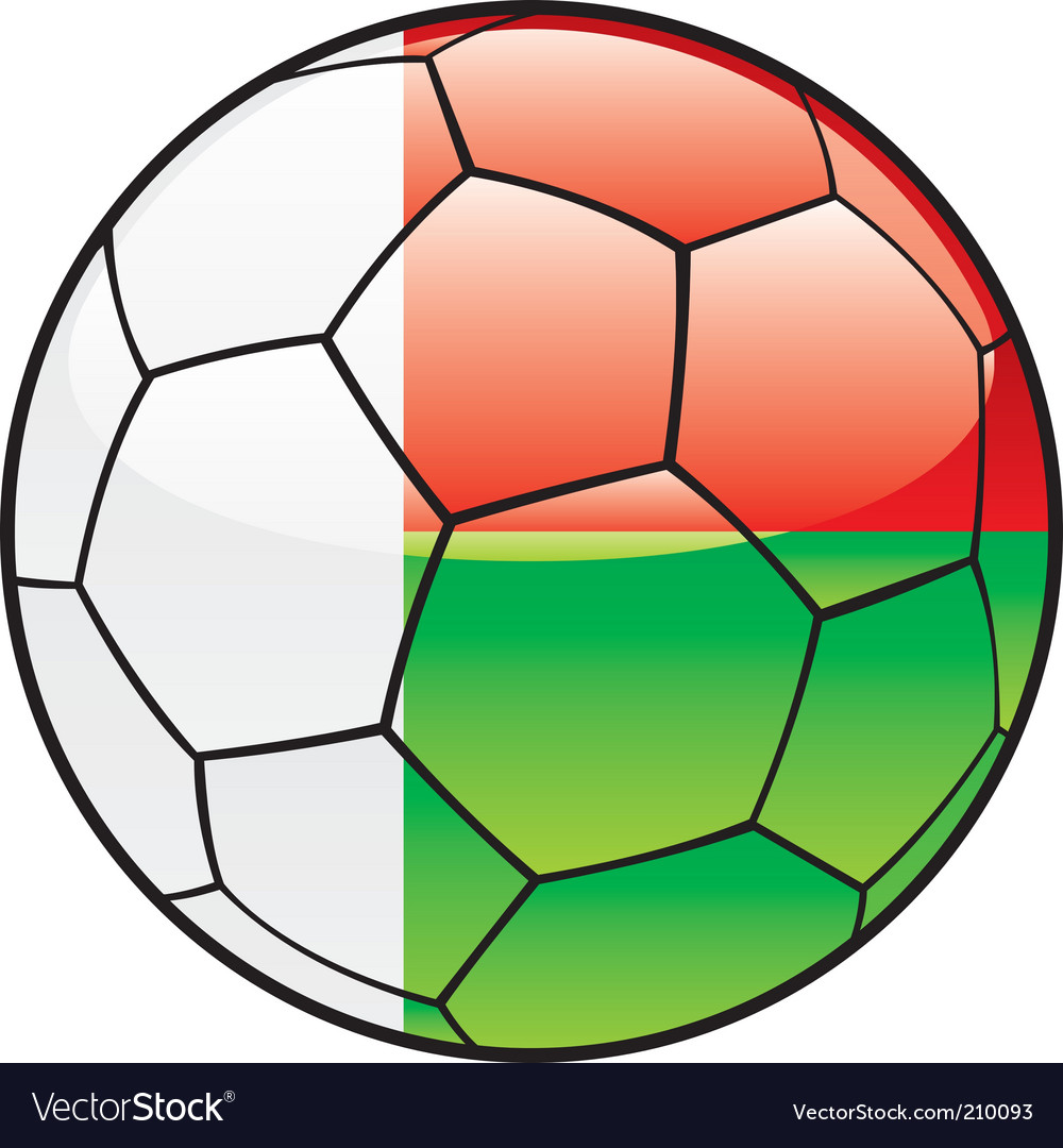 Madagascar flag on soccer ball vector | Price: 1 Credit (USD $1)