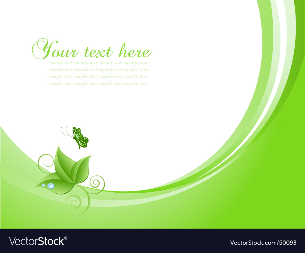 Nature background with butterfly vector | Price: 1 Credit (USD $1)