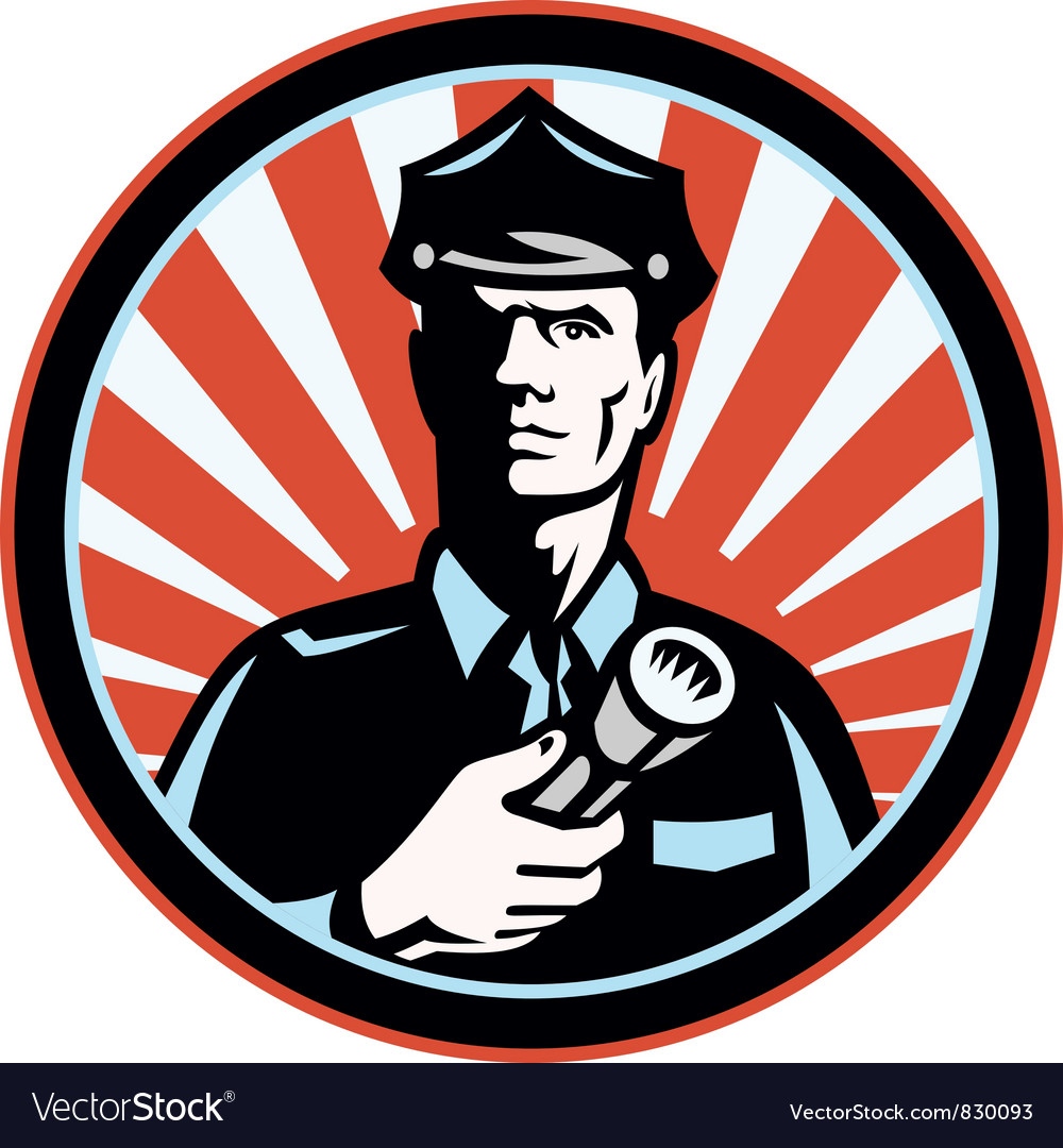 Policeman security guard vector | Price: 1 Credit (USD $1)