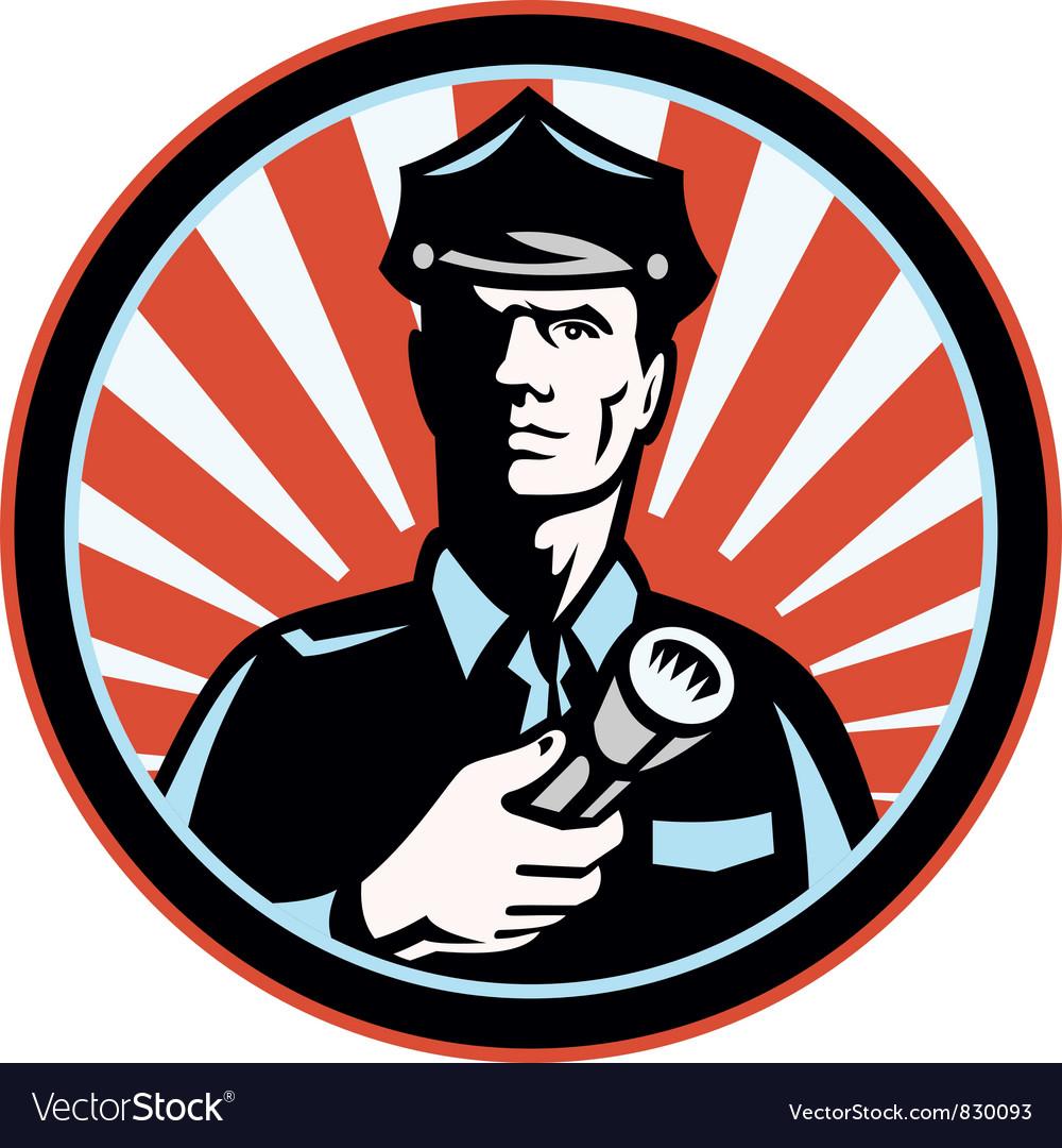 Policeman security guard vector | Price: 1 Credit (USD $1)