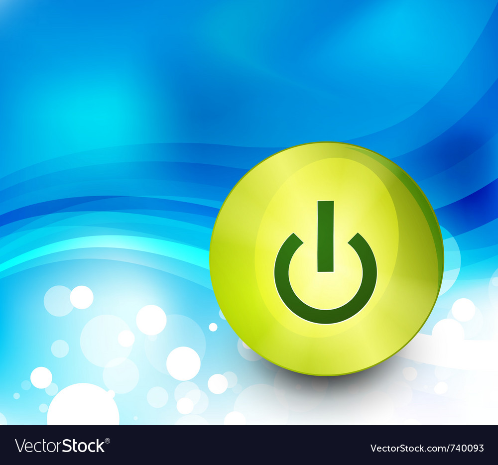 Power button background vector | Price: 1 Credit (USD $1)