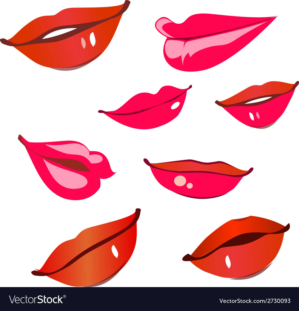Print of red lips vector | Price: 1 Credit (USD $1)