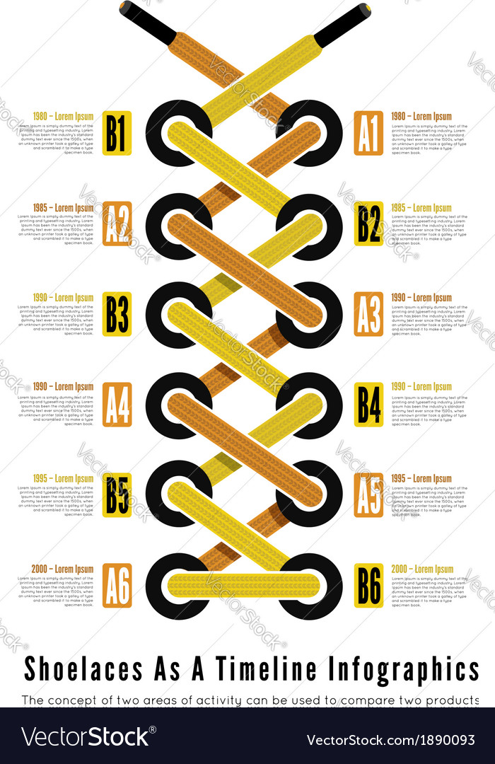 Shoelace as a timeline infographic illsutartion vector | Price: 1 Credit (USD $1)