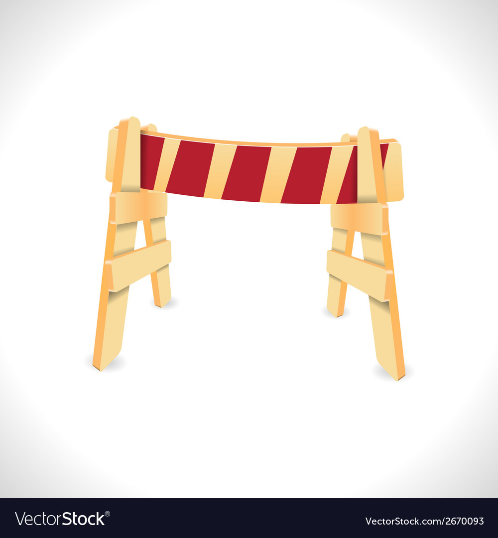 Traffic barricade vector | Price: 1 Credit (USD $1)