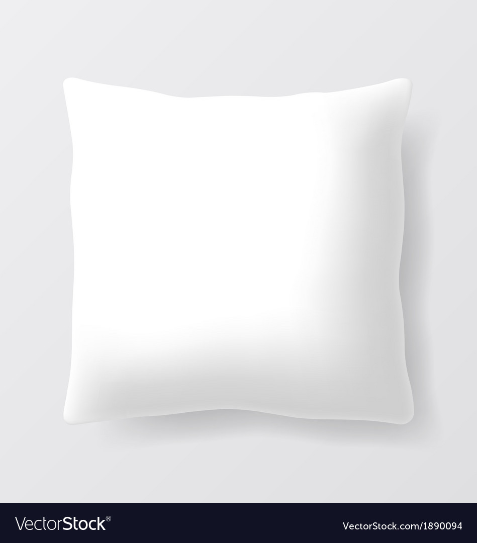Blank square pillow vector | Price: 1 Credit (USD $1)