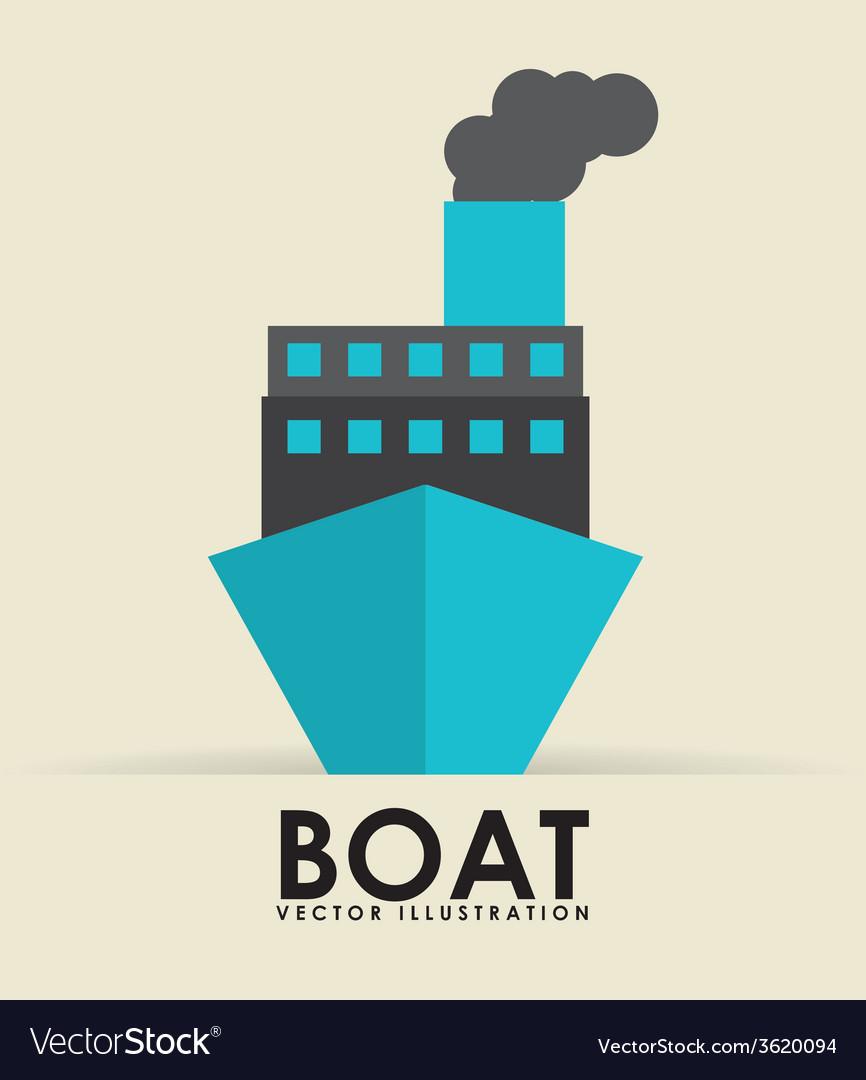 Boat transport vector | Price: 1 Credit (USD $1)