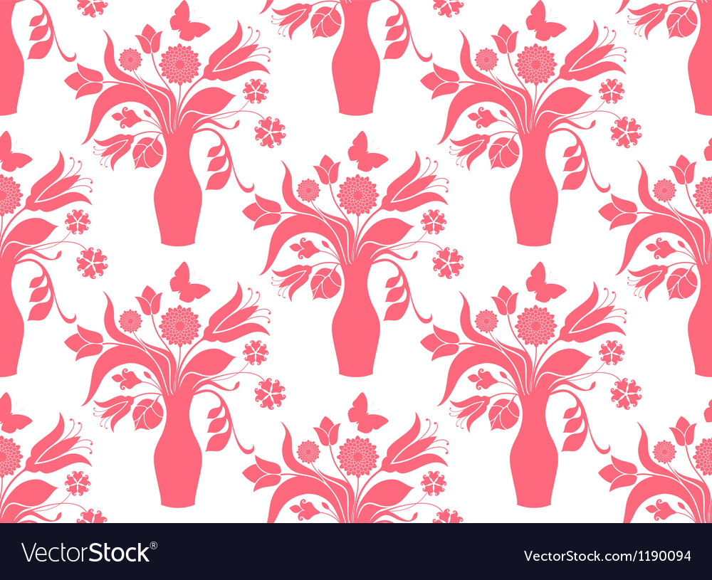 Bouquet repeat pattern vector | Price: 1 Credit (USD $1)