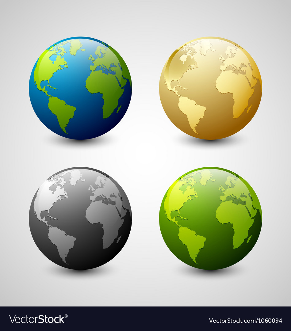Earth icons vector | Price: 1 Credit (USD $1)