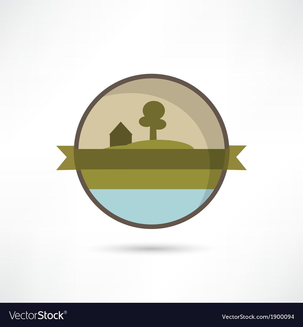 Eco home icon vector | Price: 1 Credit (USD $1)