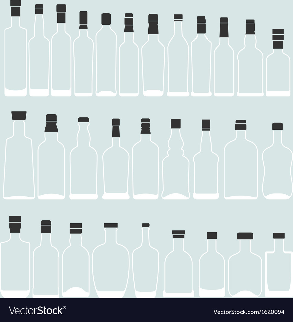 Empty bottle shape vector | Price: 1 Credit (USD $1)