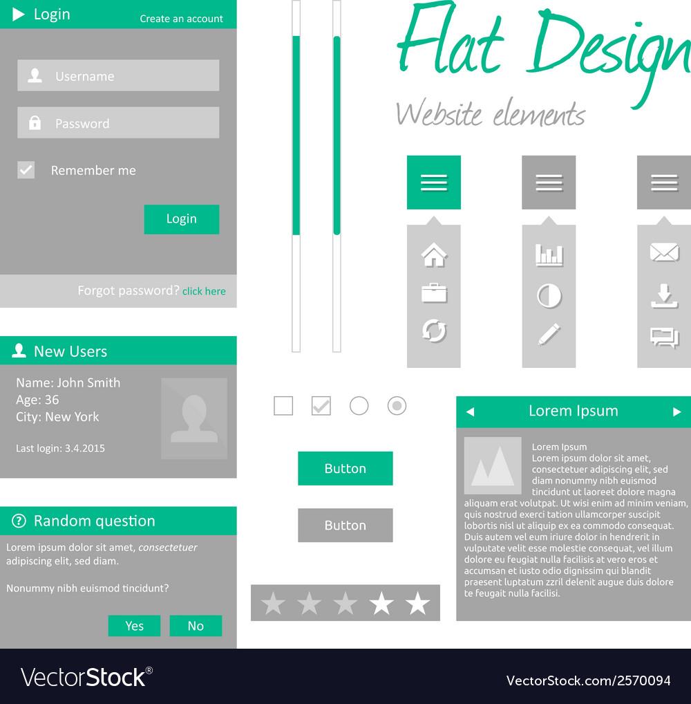 Flat design vector | Price: 1 Credit (USD $1)