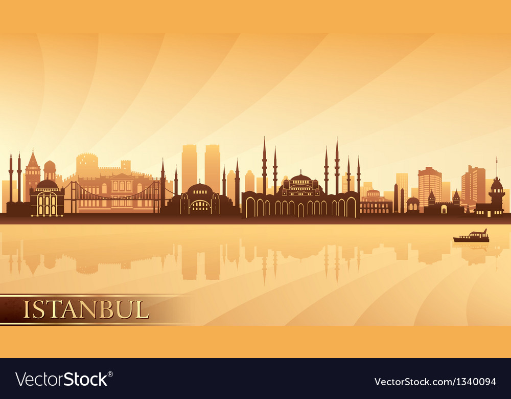 Istanbul city skyline vector | Price: 1 Credit (USD $1)