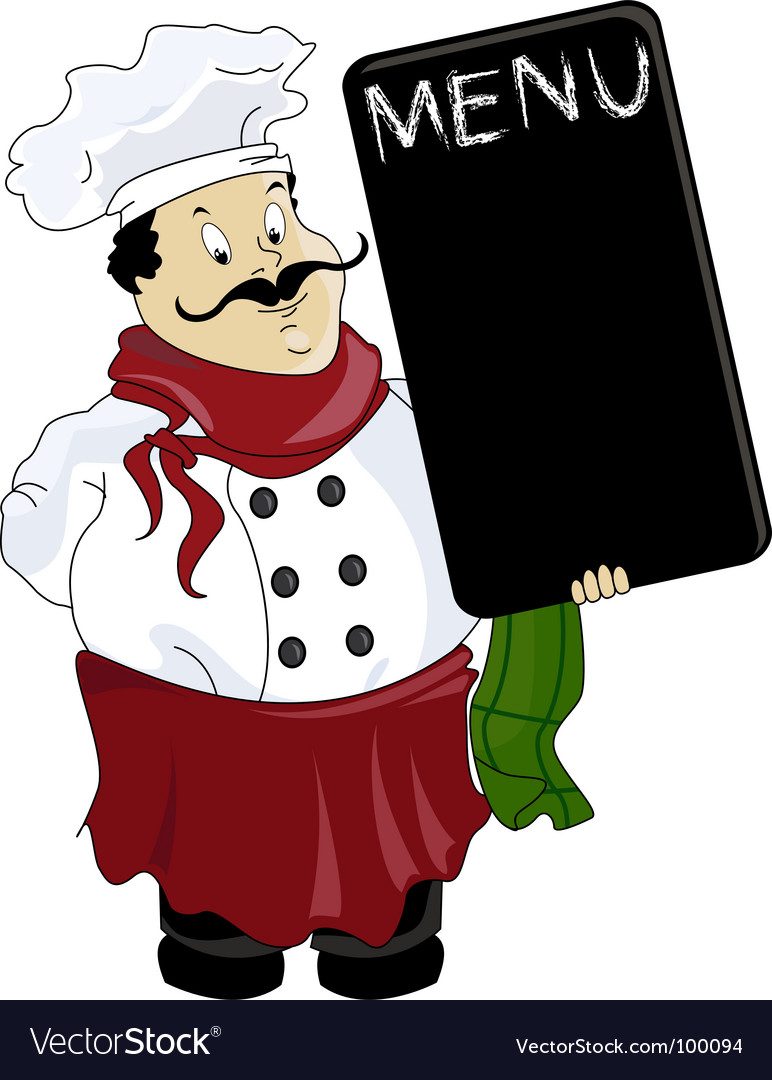 Italian chef vector | Price: 1 Credit (USD $1)