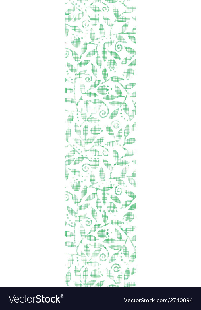 Leaves and swirls textile vertical seamless vector | Price: 1 Credit (USD $1)