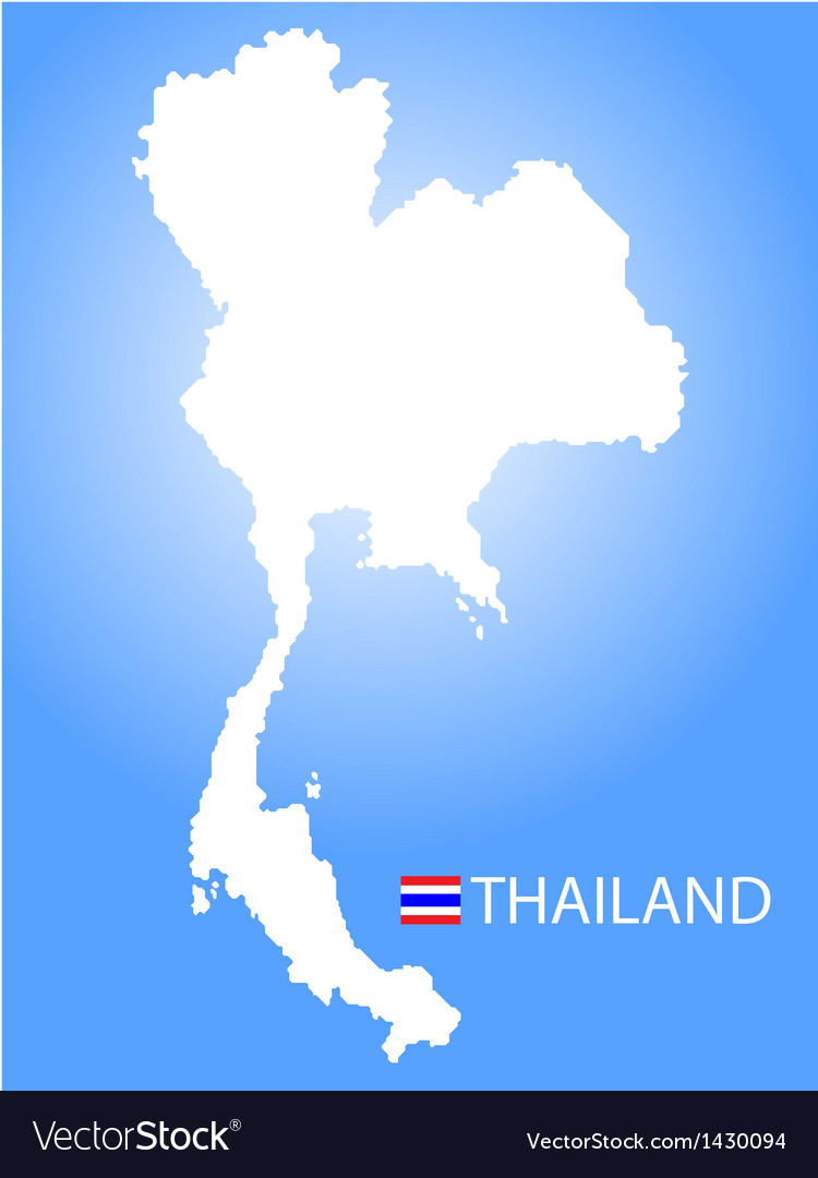 Map of kingdom of thailand vector | Price: 1 Credit (USD $1)