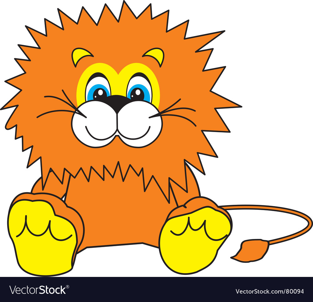 Smiling little lion vector | Price: 1 Credit (USD $1)