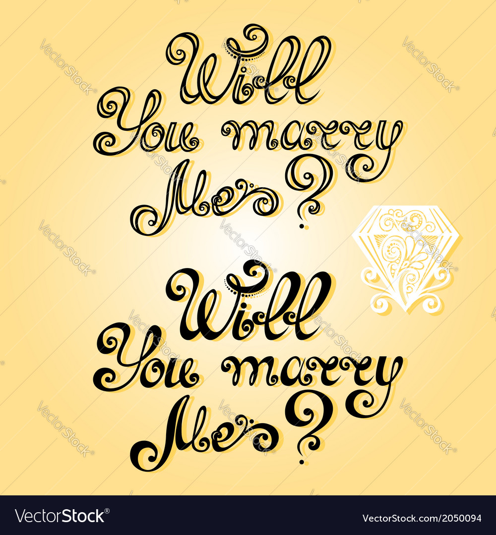 Will you marry me vector | Price: 1 Credit (USD $1)